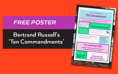 Bertrand Russell's 'Ten Commandments' Free Poster