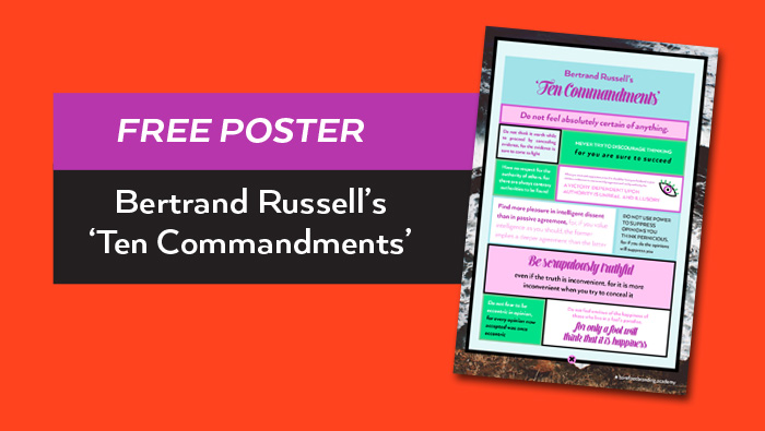 Bertrand Russell's Ten Commandments free poster