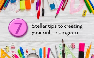 7 Stellar tips to creating your online program