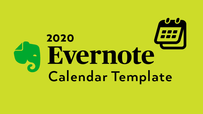 Evernote Calendar template 2020